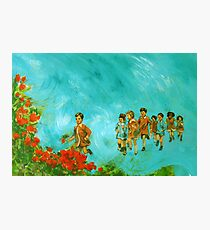 Childhood series - children play - In the kindergarten  Photographic Print