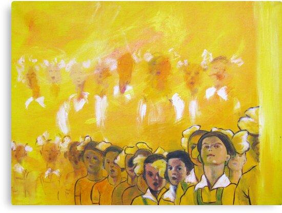 Childhood series - children singing - Kid's choir by natalyborissov