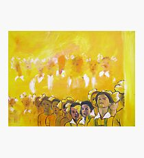 Childhood series - children singing - Kid's choir Photographic Print