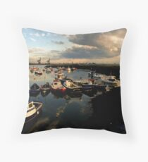 Paddys Hole  South Gare Throw Pillow