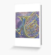 Three Horns Greeting Card
