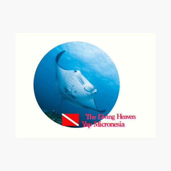 The Diving Heaven. Art Print