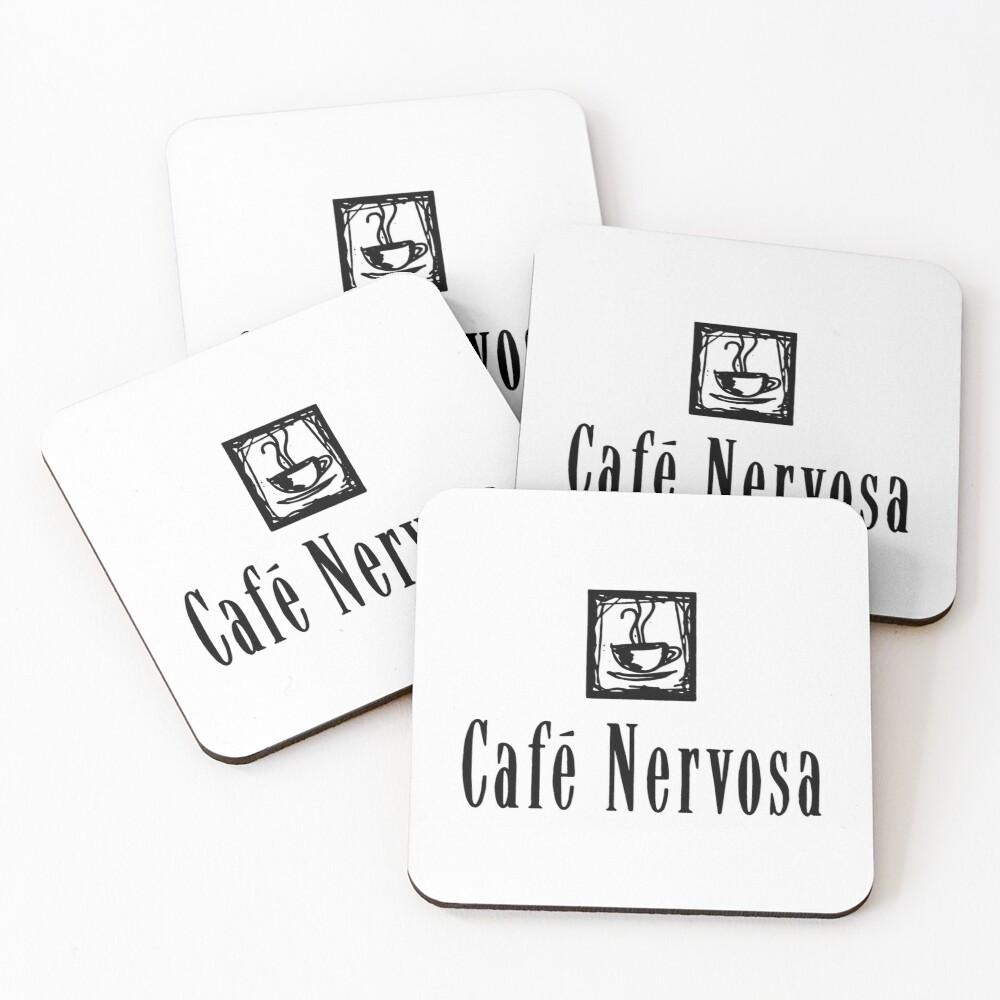 Cafe Nervosa – Frasier, Seattle Coasters (Set of 4)