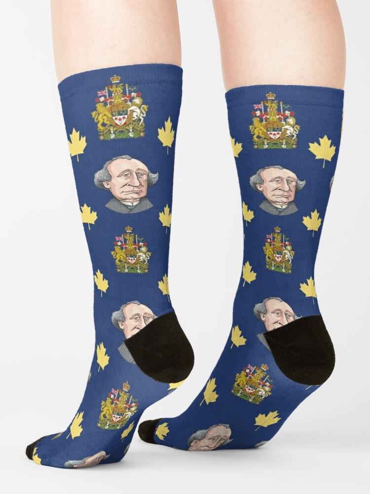 Alternate view of John A. Macdonald Socks