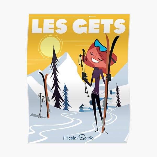 Les Gets poster Poster