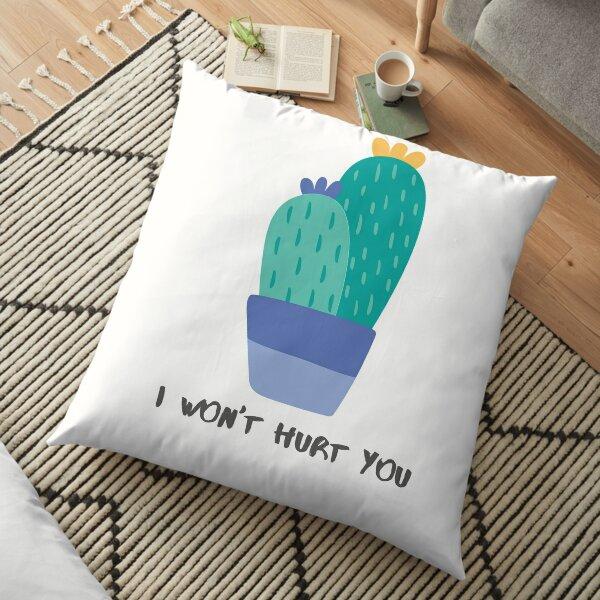 Cactus Love - Purple/Blue/Green. Floor Pillow