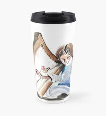Harpist Harp Musician Original Drawing Travel Mug
