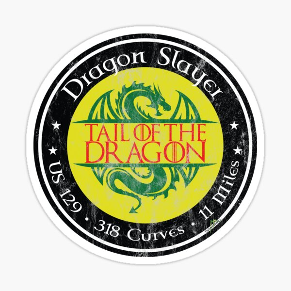 Tail Of The Dragon Stickers Redbubble