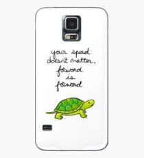 Vorwärts ist Vorwärtsschildkröte Hülle & Klebefolie für Samsung Galaxy