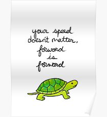 Forward is Forward Turtle Poster