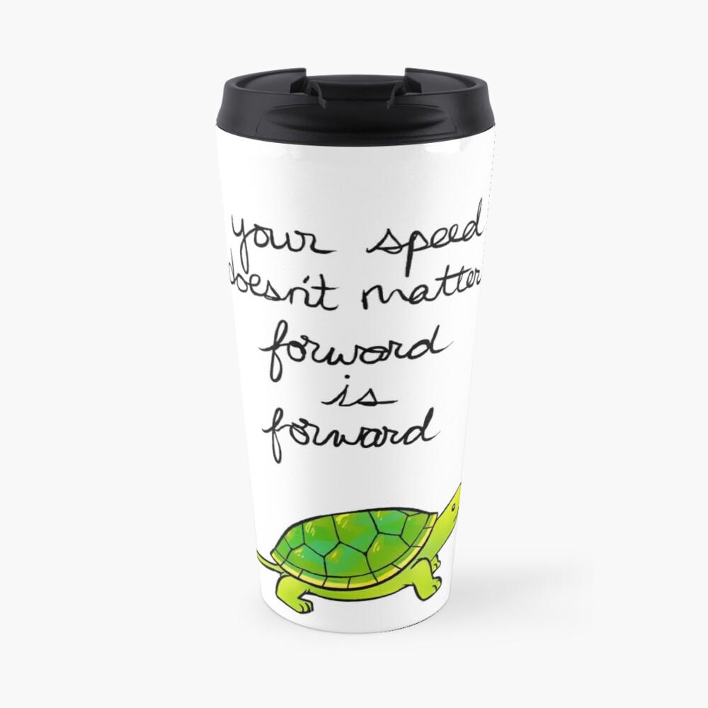 Forward is Forward Turtle Travel Mug