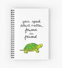 Cuaderno de espiral Adelante es Forward Turtle