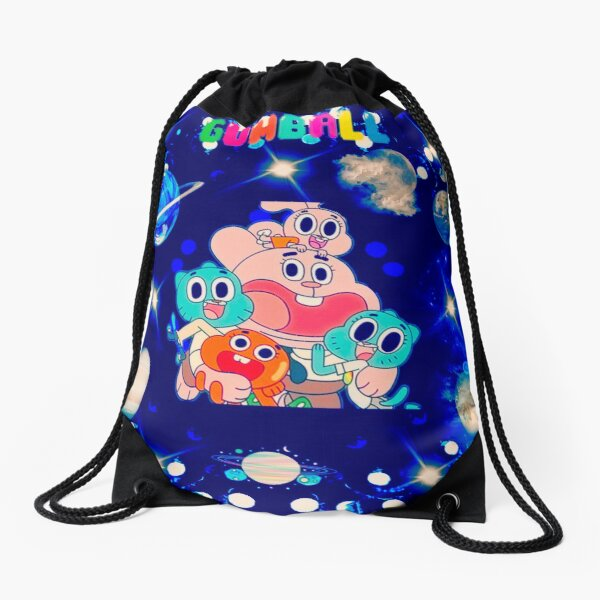 Gumball's Vacation In Outer Space Drawstring Bag