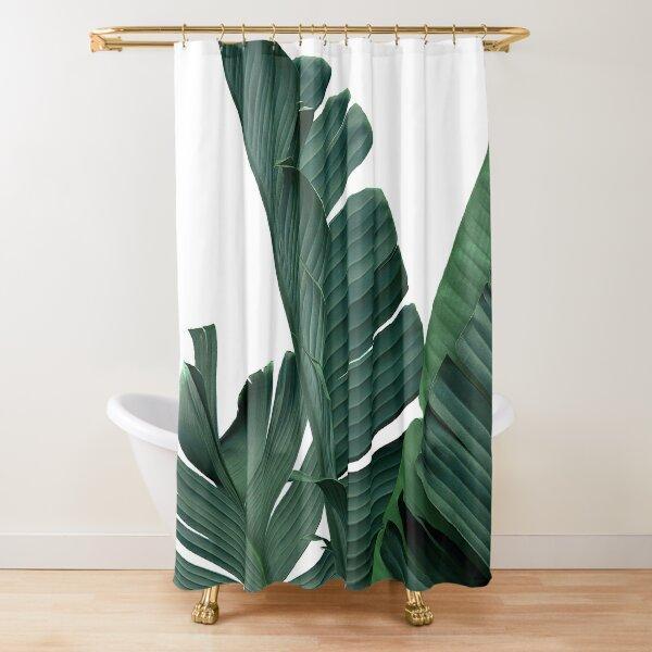 Banana Leaves. Botanical, Modern Minimalist Art Shower Curtain