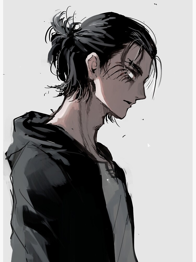Eren Yeager Greeting Card By Gibbins Redbubble