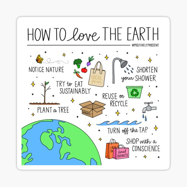 Love the Earth - Positively Present Sticker