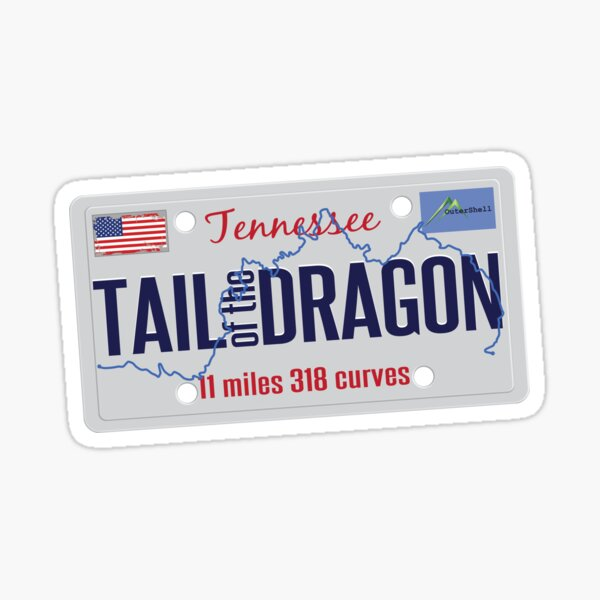 Tail of the Dragon Road US 129 Motorcycle Sports Car Sticker & T-Shirt 05 Sticker