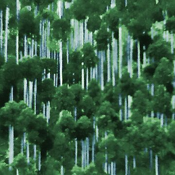 Japanese cedar forest pattern by iizzard