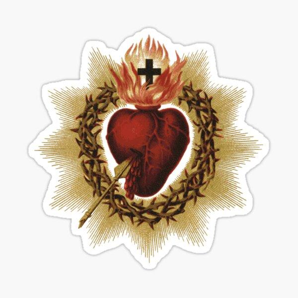 Sacred Heart of Jesus Catholic Sticker