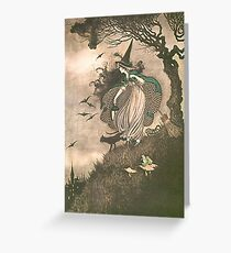 Grimm's fairy-tale witch Greeting Card