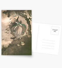 Grimm's fairy-tale witch Postcards