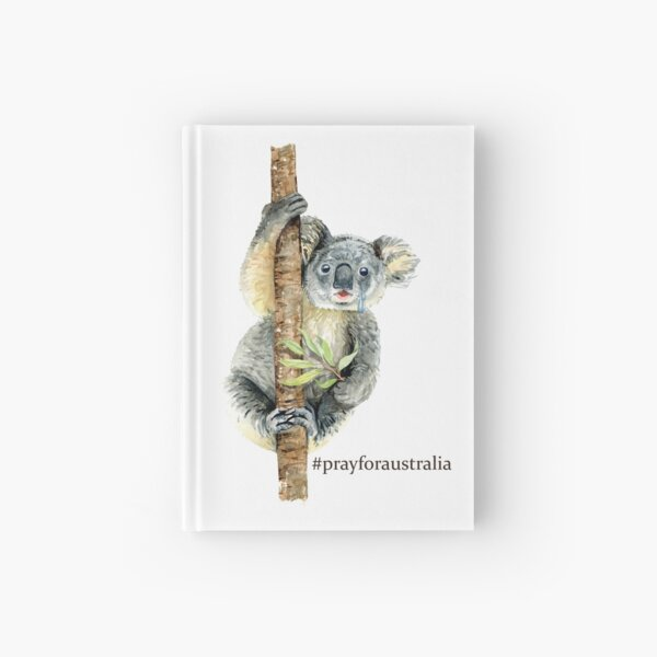 Pray for Australia Koala  Hardcover Journal