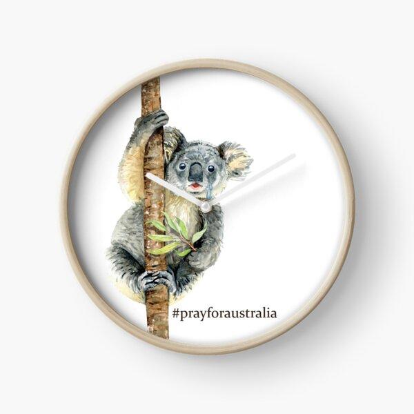 Pray for Australia Koala  Clock