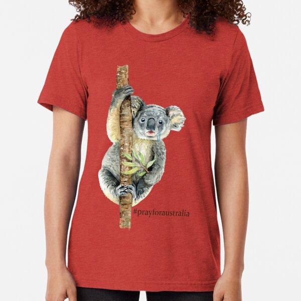 Pray for Australia Koala  Tri-blend T-Shirt