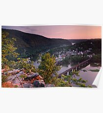 Harpers Ferry Sunset 1 - Harpers Ferry, WV Poster