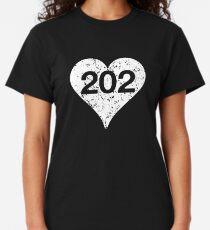 Washington DC Area Code 202 Heart  Classic T-Shirt