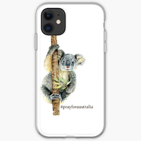 Pray for Australia Koala  iPhone Soft Case