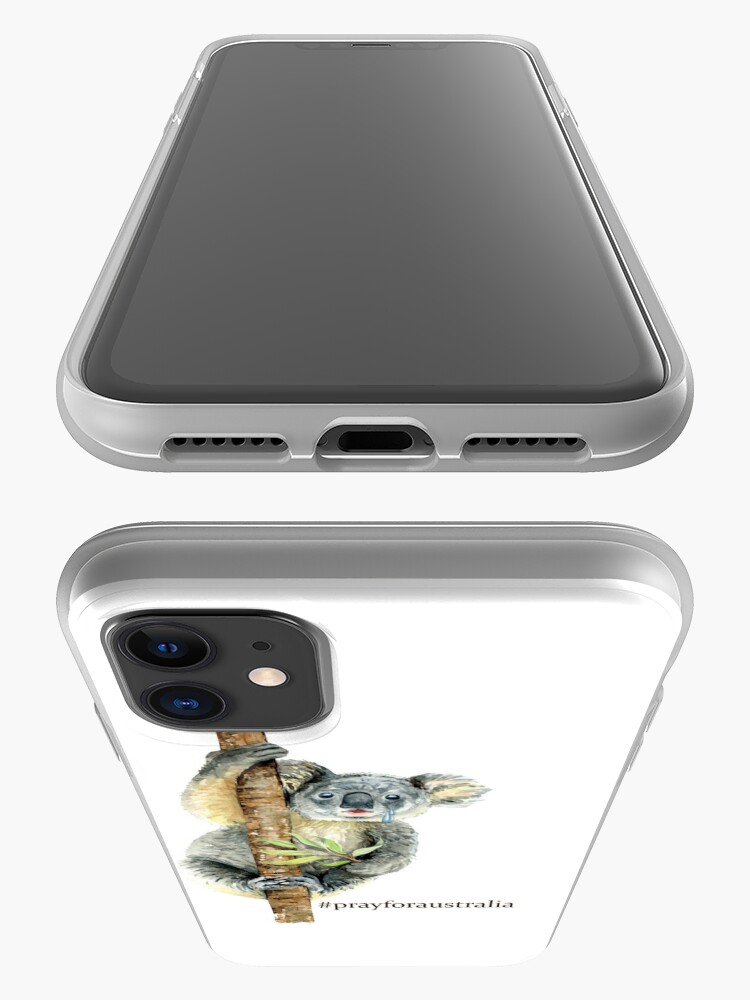 Alternate view of Pray for Australia Koala  iPhone Case & Cover