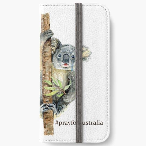 Pray for Australia Koala  iPhone Wallet