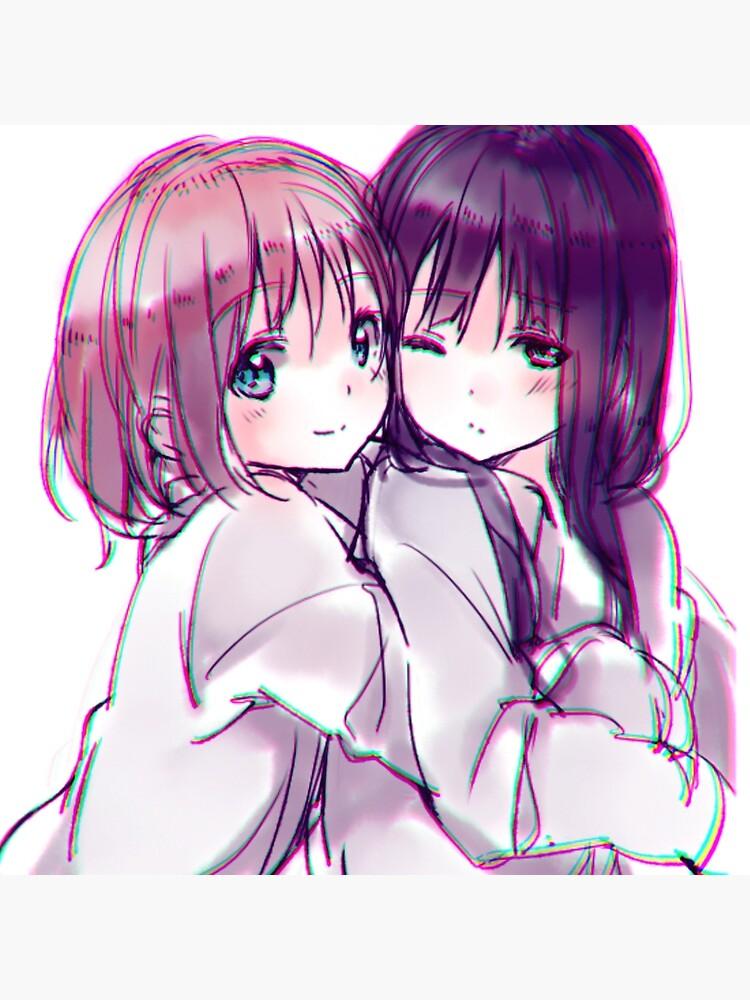 """lesbian couple"""" Art Board Print by uwuchan123   Redbubble"""