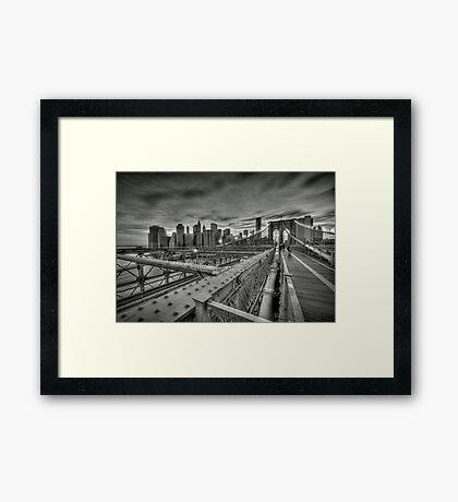 Brooklyn Bridge HDR Framed Print