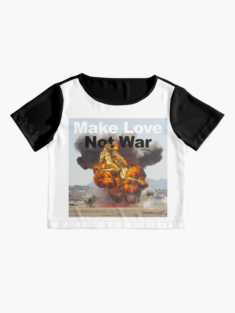 Alternate view of Make Love, Not War Chiffon Top