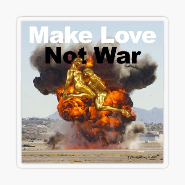 Make Love, Not War Transparent Sticker