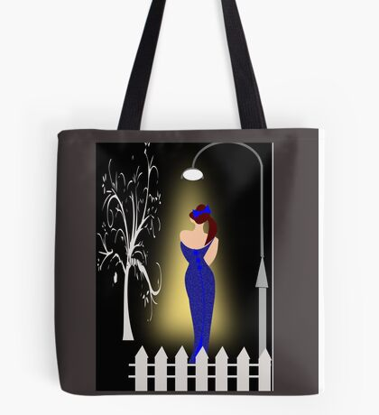 A lady returning from a party/Curve pattern  (7726 Views) Tote Bag