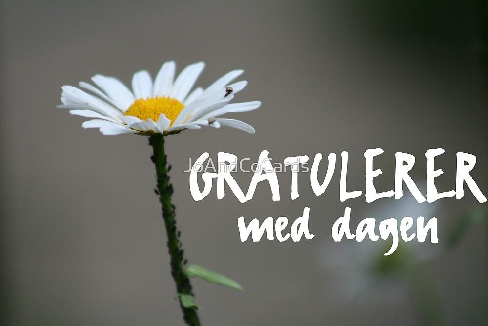 Quot Gratulerer Med Dagen Quot By Joandcocards Redbubble