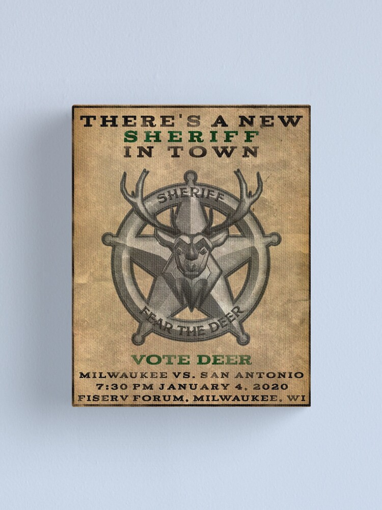 Alternate view of There's a New Sheriff in Town Canvas Print