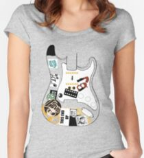 """Billie Joe Armstrong """"Blue"""" Guitar - Any Colour  Women's Fitted Scoop T-Shirt"""