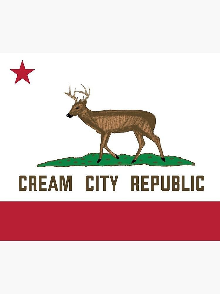 Cream City Republic Flag by AJW3-Art