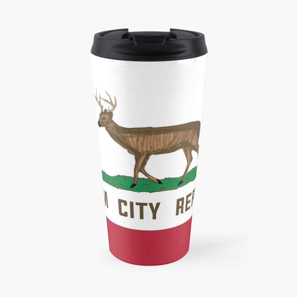 Cream City Republic Flag Travel Mug
