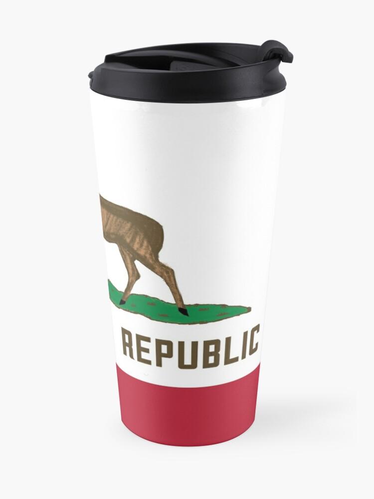 Alternate view of Cream City Republic Flag Travel Mug