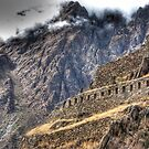 Ruins in the Clouds - Ollantaytambo, Peru by Edith Reynolds