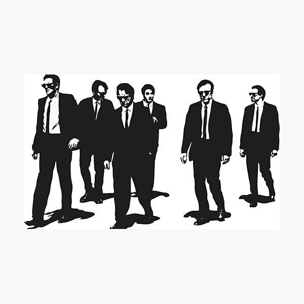 Original Reservoir Dogs Movie Artwork for Prints Tshirts Posters Bags Men Women Photographic Print