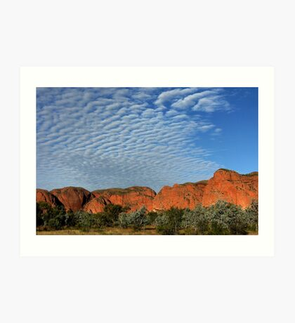 Rippled clouds over the Kimberley Art Print