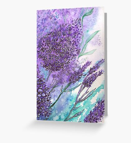 Lilacs iPhone Case Greeting Card