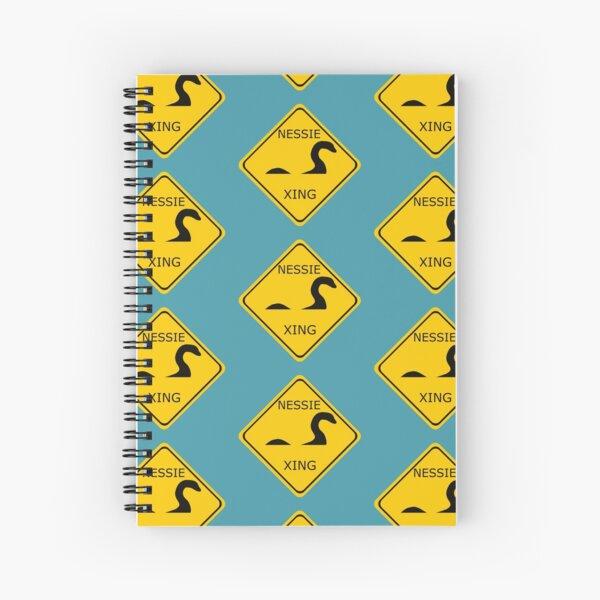 Caution Nessie Crossing Sign Spiral Notebook