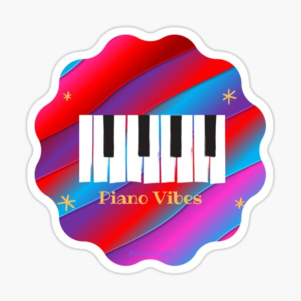 Vibrant Piano vibes Sticker